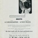 Vintage 1948 Zenith Watch Co Switzerland Swiss Advert Publicite Suisse Montres Zenith CH