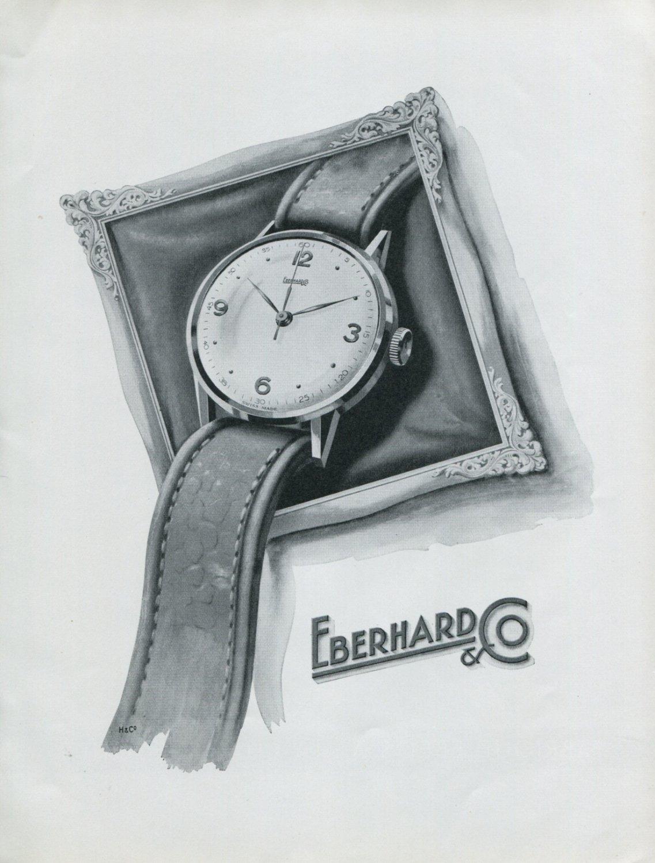 Vintage 1948 Eberhard & Co Watch Co Switzerland Swiss Advert Publicite Suisse Montres CH