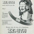 Vintage 1948 Zenith Watch Co Switzerland Swiss Advert Publicite Suisse Montres Zenith CH
