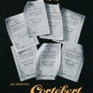 Vintage 1948 Cortebert Watch Co Juillard et Cie Swiss Advert Publicite Suisse Montres CH