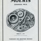 Vintage 1948 Moeris Watch Co F. Moeri SA Swiss Advert Publicite Suisse Montres Moeris CH