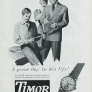 Vintage 1948 Timor Watch Co Switzerland Swiss Advert Publicite Suisse Montres Timor CH