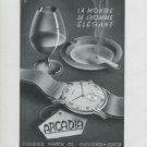1948 Fleurier Watch Company Arcadia Watch Co Switzerland Swiss Advert Publicite Suisse Montres CH