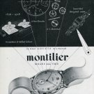 Vintage 1948 Montilier Watch Co Switzerland Swiss Advert Publicite Suisse Montres Montilier CH