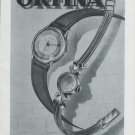 Vintage 1948 Orfina Watch Co Switzerland Swiss Advert Publicite Suisse Montres Orfina CH