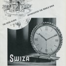 1948 Swiza Clock Co Louis Schwab SA Switzerland Swiss Advert Publicite Suisse Montres CH