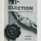 Vintage 1948 Election Watch Co Switzerland 1848-1948 100 Years Swiss Advert Publicite Suisse CH