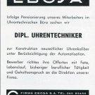 1969 Ebosa SA Switzerland Employment Advertisement Swiss Advert