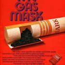 1970 Lark The Gas Mask Cigarette Ad Advert Smoke Smoking Gas Trap Filter