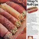1970 Hellmann's Real Mayonnaise Best Foods Mayo Wrap 'N Roll Ups Ad Advert