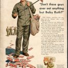 1943 WW2 WWII Baby Ruth Candy Bars Curtis Candy Company Chicago IL Military Ad