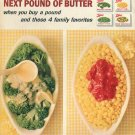 1964 Butter American Dairy Association Farmers Libby's Vegetables 1960s Advert