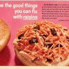 1964 California Raisin Advisory Board Ad Good Things You Can Fix with Raisins