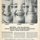 1964 Colgate Toothpaste Gardol Formula Reduce Cavities Teeth Dentist Ad Advert
