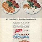 1964 French's Potato Pancake Mix Who Needs Steak Advert Frenchs Idaho Potatoes