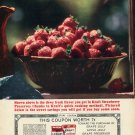 1964 Kraft Strawberry Preserves Jelly All Fresh Fruit Good 1960s Ad Advert