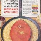 1964 Musselman's Apple Sauce Saucy Ham Slice 1960s Ad Advert Musselmans PET Milk
