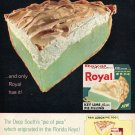 1964 Royal Pudding Florida Keys Key Lime Pie 1960s Ad Advert