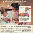 1964 St Joseph Aspirin Best Tasting for Children's Fever and Pain 1960s Advert