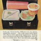 1964 Tupperware Advert Lucky Guy Great Lunches Different Every Day Magazine Ad
