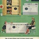 1964 Westinghouse Heavy Duty Laundry Center Laundromat Washer Dryer Ad Advert