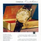 Vintage 1958 Omega Constellation Watch Advert Omega Seamaster 1950s Spanish Print Ad