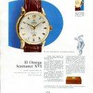 1958 Omega Seamaster XVI Helsinki Olympics Watch Ad Advert Omega Constellation Ad Omega CH