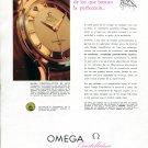 1958 Omega Constellation de Luxe Watch Advert Omega CH Switzerland 1950s Print Ad Spanish