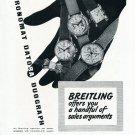 Vintage 1948 Breitling Chronomat Datora Duograph Watch Advert 1940s Swiss Print Ad Suisse Publicite