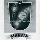 Vintage 1945 Marvin Watch Company Switzerland 1940s Swiss Ad Advert Publicite Suisse