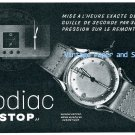 "Vintage 1945 Zodiac ""Stop"" Watch Advert 1940s Swiss Print Ad Publicite Suisse Switzerland"