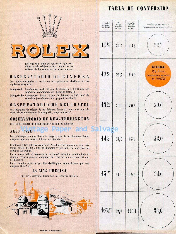 1945 Rolex Watch Company Switzerland Observatory Swiss Print Ad Publicite Suisse Suiza
