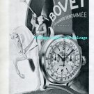 Vintage 1945 Bovet Freres & Cie SA Watch Company Switzerland 1940s Swiss Ad Publicite Suisse