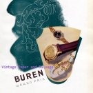 Vintage 1945 Buren Watch Company Switzerland Original 1940s Swiss Print Ad Advert Suisse