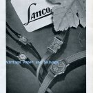 Vintage 1945 Lanco Langendorf Watch Company Switzerland 1940s Swiss Ad Advert Suisse Schweiz