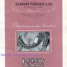 Vintage 1945 Mimo Girard-Perregaux & Co Watch Company La Chaux-de-Fonds 1940s Swiss Ad Suisse