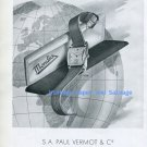 Vintage 1945 Mondia Watch Company Paul Vermot & Cie Switzerland 1940s Swiss Ad Advert Suisse