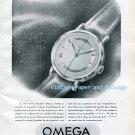 Vintage 1945 Omega Watch Company Precision au Supreme Degre 1940s Swiss Ad Advert Suisse Schweiz