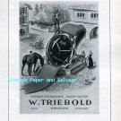 Vintage 1945 W Triebold Watch Factory Relide Automatic Watch Advert 1940s Swiss Print Ad Suisse