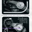 Vintage 1945 Zodiac Watch Company Switzerland Original 1940s Swiss Ad Publicite Suisse