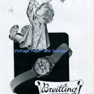Original 1945 Breitling Precision Watch Advert Vintage 1940s Swiss Ad Advert Suisse