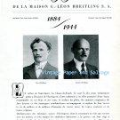 Vintage Breitling Watch Company 60 Years 1884-1944 de la Maison G. Leon Breitling S.A.