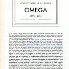 Vintage Omega Watch Company 50th Anniversary 1894-1944 Cinquantenaire de la Marque Omega Switzerland