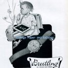 Vintage 1945 Breitling Chronomat Watch Advert Original 1940s Swiss Print Ad Suisse Suiza