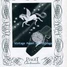 Vintage 1945 Piaget Automatic Watch Advert Georges Piaget & Cie 1940s Swiss Print Ad Suisse