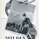 Vintage 1945 Mildia Watch Company La Chaux-de-Fonds Switzerland 1940s Swiss Print Ad Suisse