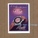 Vintage 1945 Mulfi Automatic Watch Advert Henri Muler & Fils Horlogerie 1940s Swiss Ad Suisse