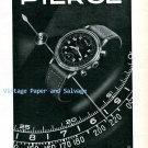 Vintage 1945 Pierce Watch Company Bienne Switzerland 1940s Swiss Print Ad Suisse