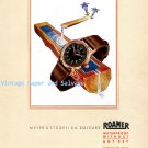 Vintage 1945 Roamer Watch Company Meyer & Studeli SA Switzerland 1940s Swiss Ad Advert