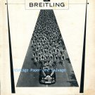Vintage 1952 Breitling Geneve Les Chronometrages Officiels Cyclist Races Racing Swiss Ad Suisse